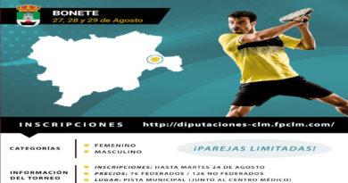I Circuito Diputación de Albacete. Torneo 14 Ayuntamiento De Bonete